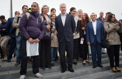 Сергей Собянин посетил обновленную Триумфальную площадь