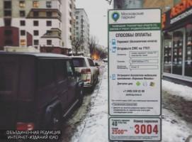 Платная парковка на улице Александра Невского