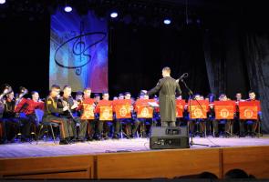 Выступление Московского военно-музыкального училища