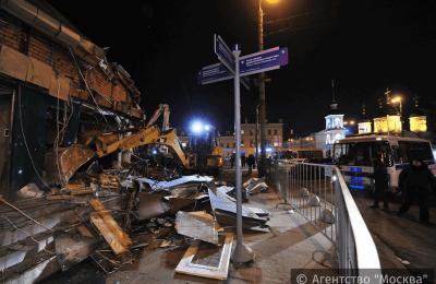 В Москве начался снос торговых павильонов
