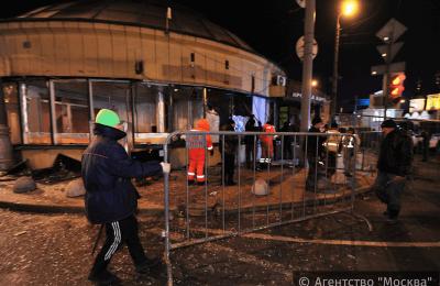 Демонтаж сооружений на Большой Сухаревской площади в Москве