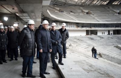 Мэр Москвы Сергей Собянин осмотрел ход реконструкции стадиона «Лужники»