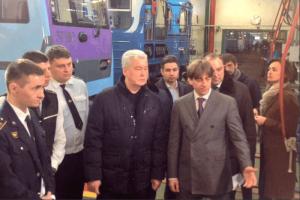 Мэр Москвы Сергей Собянин посетил электродепо «Выхино»