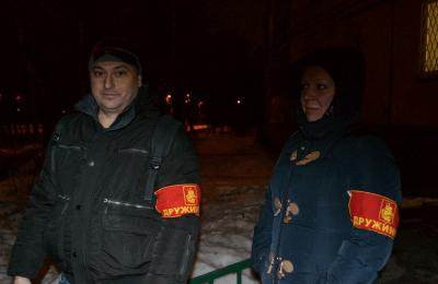 Участники рейда «Безопасная столица» в районе Бирюлево Западное