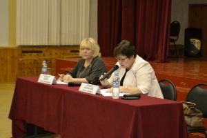 Глава управы Ольга Андриянова на встрече с населением