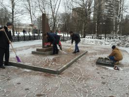 Мемориально-патронатная акция прошла в районе Бирюлево Западное