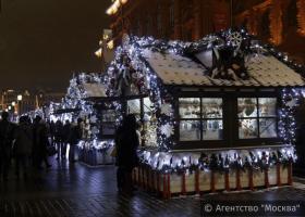 """Старт фестиваля """"Путешествие в Рождество"""" на Манежной площади"""