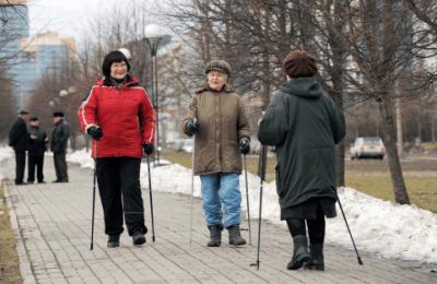 Жители района Бирюлево Западное могут воспользоваться дорожкой для скандинавской ходьбы