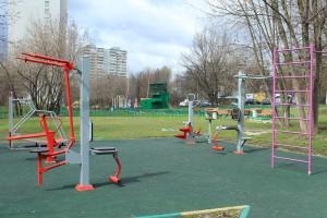 Спортивная площадка в районе Бирюлево Западное