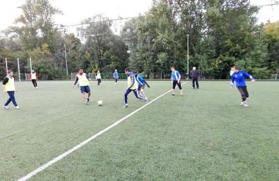 Футбольный матч в районе Бирюлево Западное