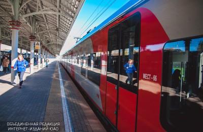 Поезд МЦК в Москве