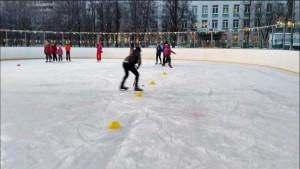 Спортивное мероприятие на катке в районе Бирюлево Западное