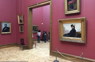 Жители Москвы в Третьяковской галерее