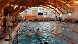 Участники окружных соревнования по плаванию