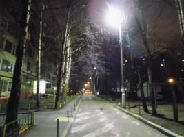 Отремонтированный фонарный столб в районе Бирюлево Западное