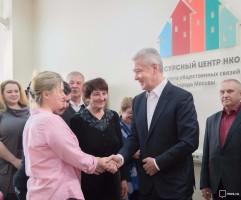 Мэр Москвы Сергей Собянин на встрече с жителями