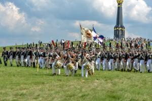Участники объединения на реконструкции Бородинского сражения