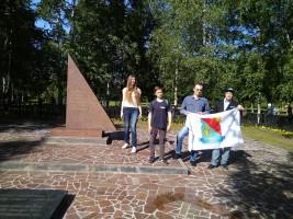 Патронатная акция по уборке памятника в Бирюлеве Западном