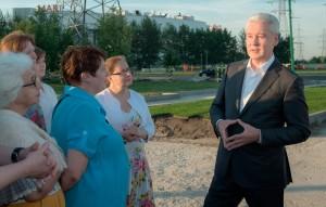 Cергей Собянин осмотрел ремонт парка 850-летия Москвы