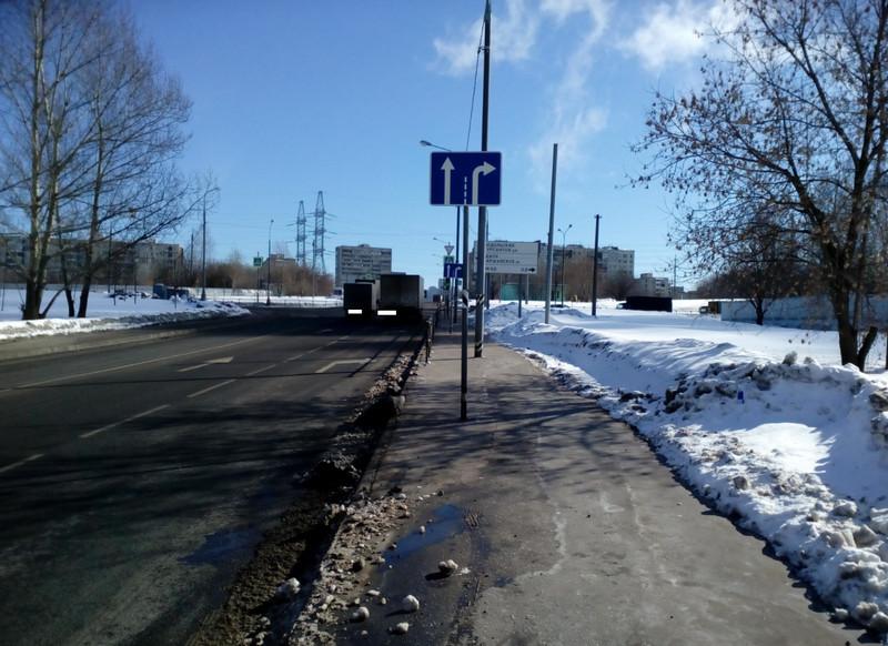 На перекрестке по Булатниковской улице заменили дорожный знак