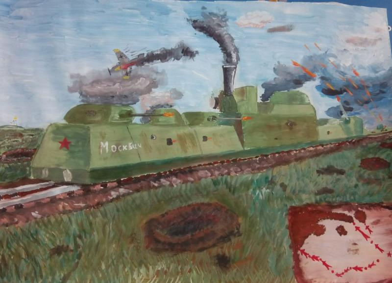 Рисунок Андрея Ф. на выставке в библиотеке №160